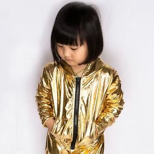 Fashion Kids Hip Hop Dance Jacket Stage Performance Children Sports Coat
