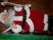 "Vintage 1995 Animated Musical Santa With List 17"" Christmas Gemmy"