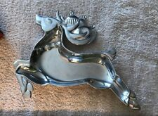 Vintage Lenox Holiday Yuletide Metal Serverware Reindeer Candy Dish Tray