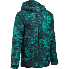 NWT Under Armour YLG Storm CGI Infrared Jacket Powerline Insulated BLK Green New