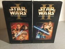 Star Wars VHS Tapes - Episodes 1 & 2 Phantom Menace & Attack of the Clones LOT