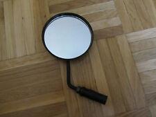Espejo retrovisor redondo 10 cm. plastic negro vintage instal. cuña