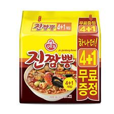 Korea Ottogi Jin Jjambbong Ramen 4+1 set Korean-Noodle-Spicy
