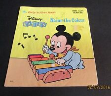 Disney Baby's First Bks.: Disney Babies Name the Colors 1987 (wipes clean)