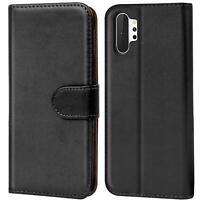 Book Case für Samsung Galaxy Note 10 Plus Hülle Tasche Flip Cover Handy Schutz