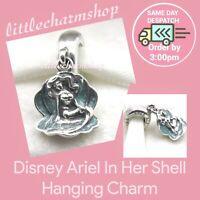 New Authentic PANDORA Disney Ariel In Her Shell Hanging Charm - 791895EN111