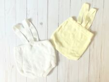 Vintage Toddlers Lot of 2 Yellow and White Sweater Knit Bloomers Suspenders