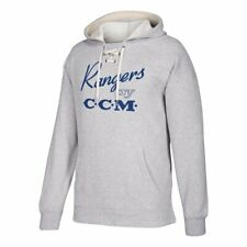 NHL Hockey Hooded Centennial CCM Vintage New York Rangers Logo Sweatshirt. (L)