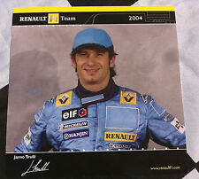 JARNO TRULLI RENAULT FORMULA ONE 2004 TEAM POST CARD SET DRIVER 15cm x 15cm R24