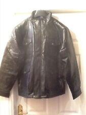 Leather Zip Neck Unbranded Regular Coats & Jackets for Men