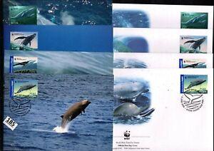 /// AUSTRALIA 2006 - 4 FDC+MC - WWF - WHALES