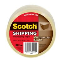 """Scotch 3750 Commercial Grade Packaging Tape, 3"""" Core, 1.88"""" X 54.6 Yds, Clear"""