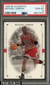 1998 SP Authentic #7 Michael Jordan CHICAGO BULLS HOF PSA 10 GEM MINT