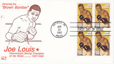 POSTAL HISTORY FIRST DAY EVENT COVER HONORING JOE LOUIS BROWN BOMBER HFB CACHET