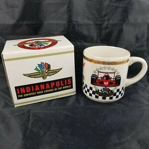 Indy 500 Indianapolis Mug Motor Speedway Auto Racing Vintage Coffee Cup Car