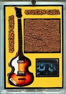 Beatles Cavern Club Brick Fragments  Display with Film Frame with Ringo on Drums