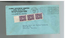 1942 Halifax CAnada James Donohue Sheet Metal Company Postage Due  cover