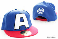 AWESOME MARVEL'S CAPTAIN AMERICA 'A' BLUE & RED SNAPBACK CAP HAT *BRAND NEW*