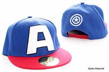 MARVEL COMICS - CAPTAIN AMERICA 'A' BLUE & RED SNAPBACK CAP HAT (BRAND NEW)