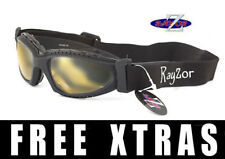 RayZor Uv400 2 In1 Ski Snowboard Sunglasses Goggles Light Enhancing Lens RRP£69
