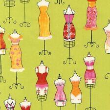 Robert Kaufman Dress Up Dressform Fabric in Sweet Pea by Fabrice de Villeneuve