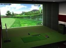 3D Indoor Golf Simulator Single Screen High-Precision IR Training Game SEE VIDEO