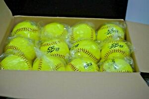12 Dudley Fast Pitch Soft Balls NEON YELLOW NEW SEALED