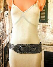 Snake skin hippie boho PU faux leather look wide belt fashion belt 12 R16422C