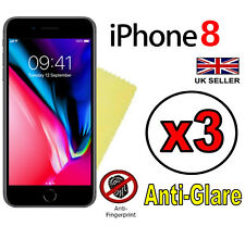 3x HQ MATTE ANTI GLARE SCREEN PROTECTOR COVER GUARDS FILMS FOR APPLE IPHONE 8