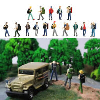 5pcs 1: 64 Wanderer Figuren Spatziergänger Backpacker Modell Set für DIY