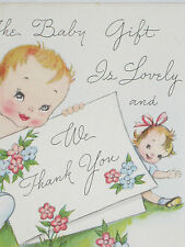 9 Vintage Baby Gift 1948 Shower Thank You Cards Notes Year Envelopes Greeting