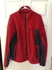 Columbia Titanium Mens Jacket Size L Large Red Fleece Full Zip Omni Shield