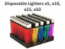 New Disposable Lighters Child Safety Adjustable Flame by GIL x5, x10, x25, x50