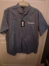 Blue Navy Button Up Murano Slim Fit Shirt NEW $69.50 Size XL Short Sleeve