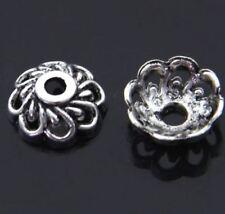 20pcs-10mm filigree bead caps,silver bead caps,tassel cap