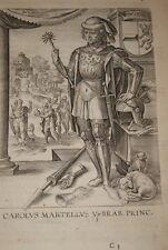 GRAVURE BELGIQUE CAROLUS MARTELLUS V BRABANT VEEN COLLAERT 1623 OLD PRINT R970