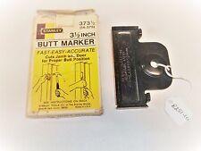 """Stanley Carpenters No. 373-1/2 - 3-1/2"""" Butt Marker w/ Original Box, Usa"""