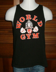 WORLD GYM TANK TOP -Rare 90's 2-sided Gorilla Sz XL **1996 Still New