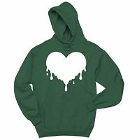 Dripping Melting Heart Sweatshirt Love Hipster Music Graphic Hoodie