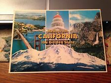 Vintage Postcard: Hello From California the Golden State