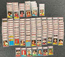 LOT of (135) 1963 Topps Baseball ALL PSA GRADED Most 6 & 7 w/ Some Qualifiers