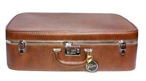 Ventura Cinnamon Jr Pullman Suitcase Salmon Interior 1979 VTG Luggage 24x16x7