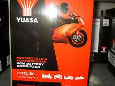 Batteria Yuasa YTX7L-BS ZZR 250 X3M VERTEX FLY 4T VESPA DR VANVAN SIXTEEN 150
