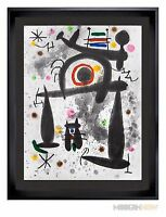 Joan MIRO Color Lithograph LIMITED Edition 1971 ~ 22x25in. ++Custom FRAMING