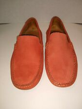 Massimo Matteo Firenze Orange Suede Loafers