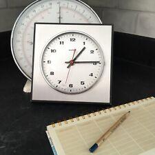 vintage Retro Square acctim German wall clock Brushed Chrome