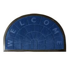 Zerbino gomma semiluna 45x75 cm tappeto antiscivolo entrata interno esterno casa