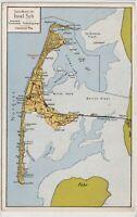 Ansichtskarte Spezialkarte der Insel Sylt - Hindenburgdamm - gelaufen 1939