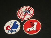 OLD BASEBALL PATCH PATCHES NEW YORK YANKEES CHICAGO WHITE SOX MONTREAL EXPOS