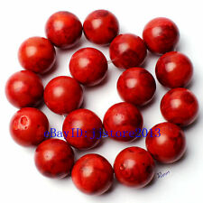 """22mm Pretty Natural Sponge Red Coral Round Shape Gemstone Loose Beads Strand 15"""""""